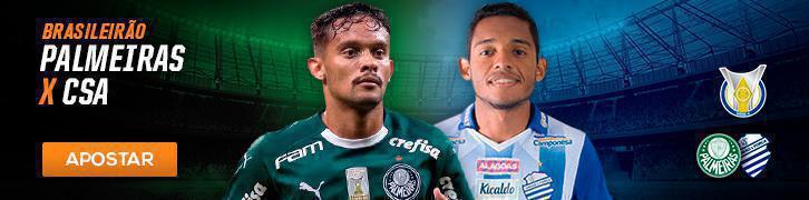 Veja as melhores apostas para as semi da Copa Sul-Americana e 21° rodada do Brasileirão Palmeiras x CSA